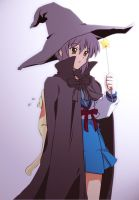 yuki nagato in witch costume by BlazingWarlord