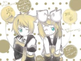 Happy 4th Kagamine Twins Len and Rin by Pokemonfan4ever