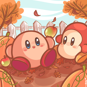 apples and pumpkins by chibiirose
