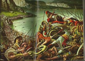 Battle of Thermopylae 480 BC by noneofurbussiness