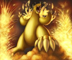 Eruption - Typhlosion by crateshya
