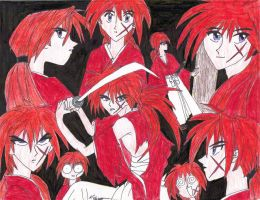 Kenshin collage by FinalGenesiss