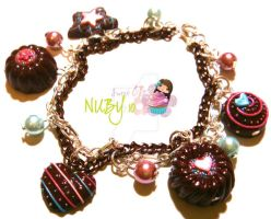 Chocolate Devotion Bracelet by colourful-blossom