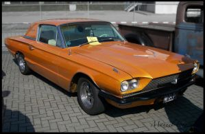 1966 Ford Thunderbird orange by compaan-art