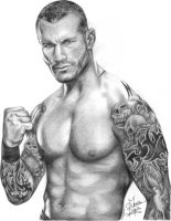 Randy Orton Pencil Drawing by Chirantha