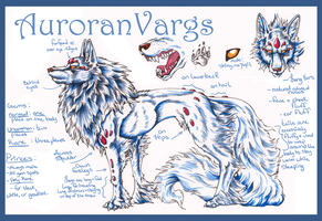 Auroran Varg Creature Sheet by ElysianImagery