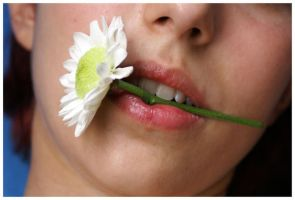 Delicate Flower Lips by JacquiJax