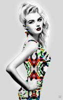 Dress with Summer Intricate pattern by Marsha-Veliguro