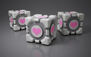 companion cube by SaphireNishi