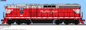 Chicago Burlington and Quincy SD24 504 by o484