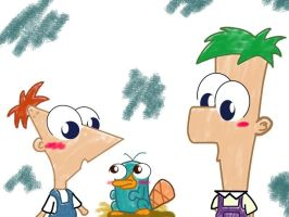 Phineas y Ferb by 16Whatsername