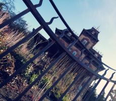 Through the fence of the Mansion by marty-mclfy