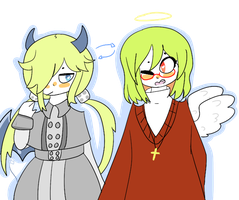 [mogeko march day 27] species swap by Melody-Skittles