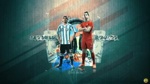 Messi and Ronaldo by WalidGFX