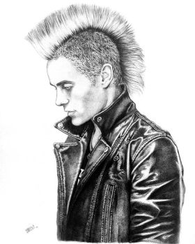 Jared Leto pencil Portrait by Taurina