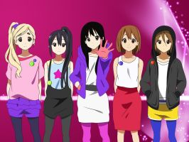 K-On wallpaper by SiIIyGirl