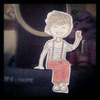 Louis Tomlinson paper kid. by JustSweetMelody
