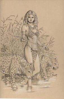 Leopard Girl by MitchFoust