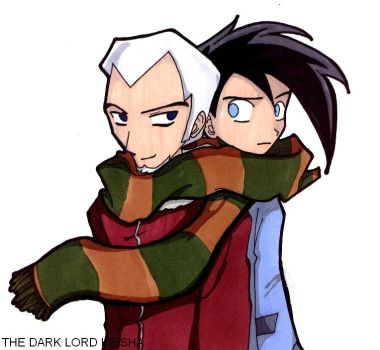 Sharing scarves is smexy by thedarklordkeisha
