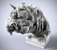 Old Dragon Bust by sergiosoares