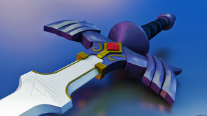 Master Sword - Cinema 4D by Exherion