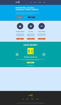 [Free PSD] Flat website design by drunkgopo