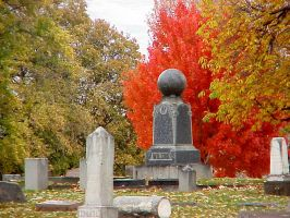 autumn cemetary by GothBarbie