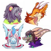 Freebie Heads pt 2 by squeedgemonster