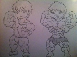 Chibi OC Fan Art: ZL and Greg by ryugaxryoga