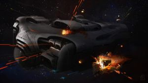 Carrier under attack by zilekondic
