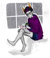 Eridan Relaxing Sketchy by The-Noodles