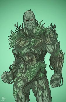 Swamp Thing (Earth-27) commission by phil-cho