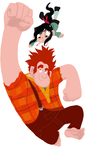 Wreck-it Ralph and Vanellope Von Schweetz by AliasForRent