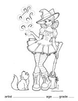 wicked wendy coloring page by brigidashwood