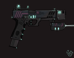 Glock 18/ Sci-Fi ReDesign concept by LeM0N-head
