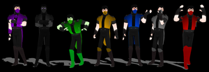 MK Ninjas V.2 for MMD by Texmoder
