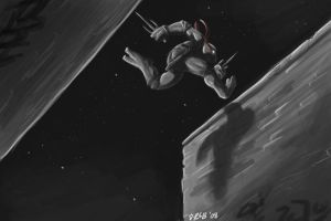 Rooftop Raph by Kobb
