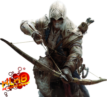 assassin's creed 3 connor with bow by XLR8gfx