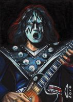 KISS-SPACE ACE-SKETCH CARD by AHochrein2010