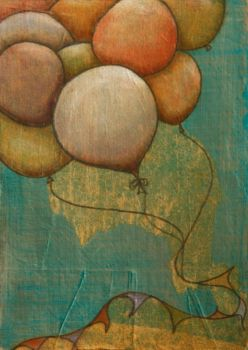 miXeD meDiA bAlloONs aTc by NellieWindmill