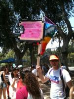 Nyan Flag at TLV Pride Parade by Terrysaur