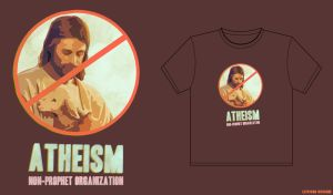 atheism t-shirt by LevismDesign