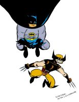 Batman and Wolverine collaboration by ryuzo