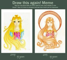 Before and After Meme: Princess Zelda by Noriko-Sugawara