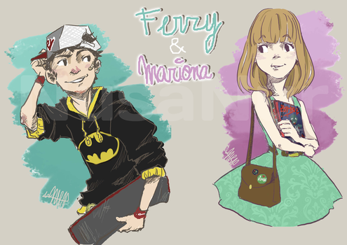 Ferry and Mariona by NusaNur