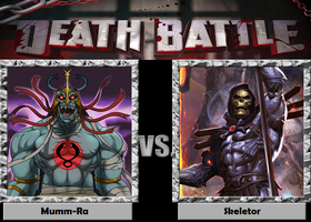 Death Battle - Mumm-Ra vs Skeletor by Rassilon001