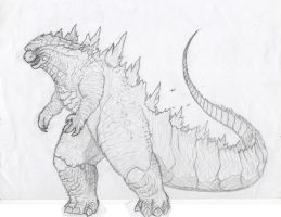 Godzilla 2014(2) finished by kamakoa09