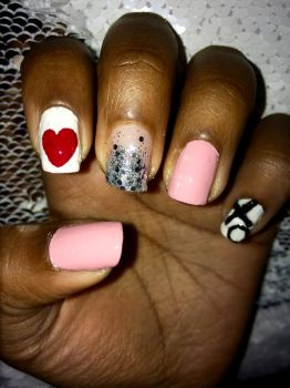 Valentine Day Nails by MissBeatle24