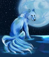 Wolf water spirit by Lucky978