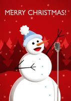 Happy Singing Snowman by azzza